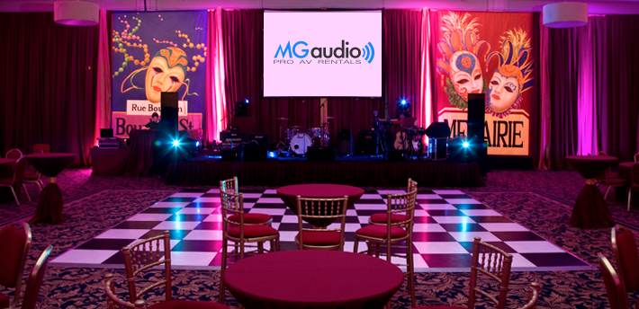 Corporate stage backdrops and set design hire